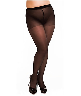 Glamory Plus Size Satin 20 Pantyhose