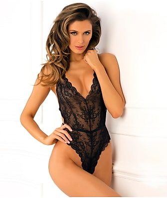 Rene Rofe Strap Back Wireless Lace Teddy