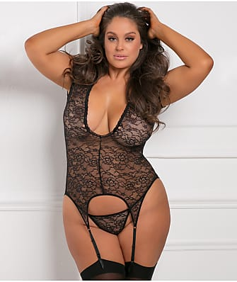 Rene Rofe Plus Size Finest Of All Garter Chemise Set