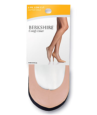 Berkshire Comfy Cuff Cotton Shoe Liners 2-Pack