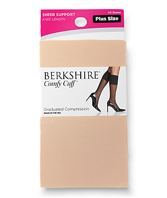 Berkshire Sheer Comfy Cuff Knee Highs Plus Size