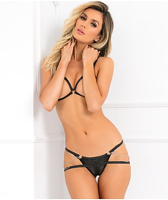 Rene Rofe Night Chain Bondage Bra Set