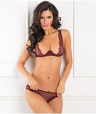 1c83b3427 Rene Rofe With Love Half Cup Bra Set