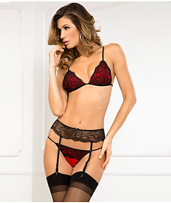 Rene Rofe Crown Pleasure Bra & Garter Set