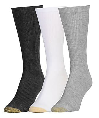 Gold Toe Premium Comfort Top Ribbed Crew Socks 3-Pack