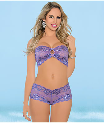 Escante Lace Bandeau & Boyshort Set