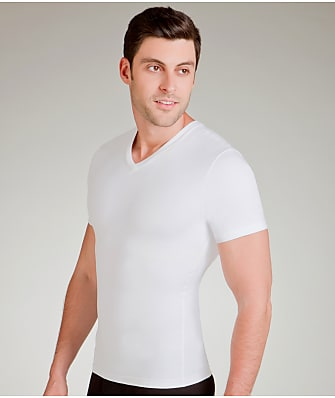 SPANX Cotton Compression V-Neck T-Shirt