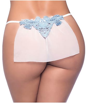 Oh La La Cheri Veiled Sheer Bridal G-String