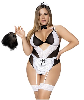 Mapalé Plus Size French Maid Teddy Lingerie Set