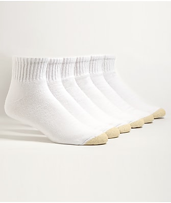 Gold Toe Cotton Cushion Big & Tall Ankle Socks 6-Pack