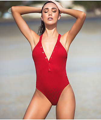 Mapalé Ribbed Plunge One-Piece