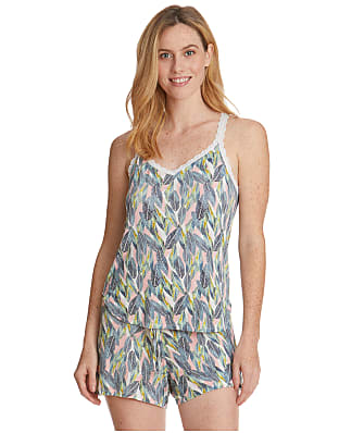Hanky Panky Tropical Palm Leaf Knit Pajama Set