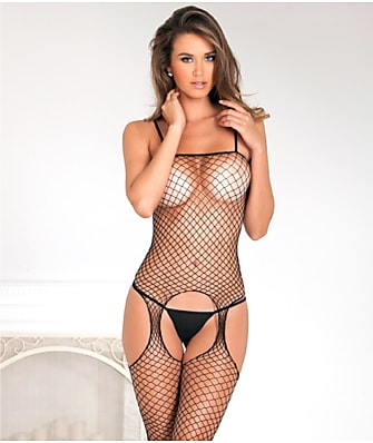 Rene Rofe Industrial Net Garter Bodystocking