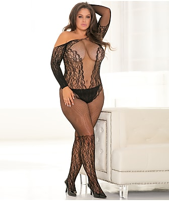 Rene Rofe Plus Size Make You Melt Bodystocking