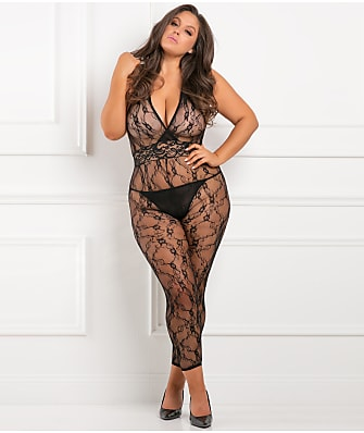 42d6b15308b Rene Rofe Plus Size Lacy Movie Bodystocking