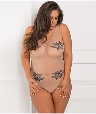 Rene Rofe Plus Size Romantic Bodysuit