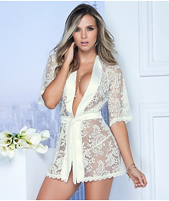 Mapalé Lace Robe & Matching G-String Set