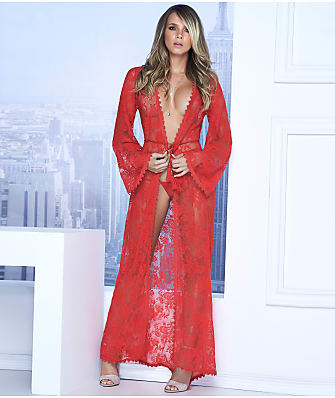 Mapalé Long Lace Robe & G-String Set