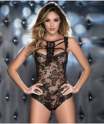 Mapalé High Neck Wireless Lace Teddy