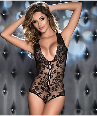 Mapalé Button-Up Lace Teddy
