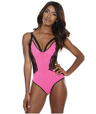 Coquette Crotchless Mesh & Lace Teddy