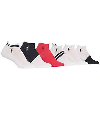 Ralph Lauren Stripe Tab Low Cut Socks 6-Pack