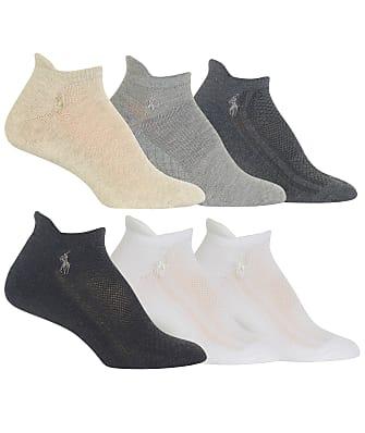 Ralph Lauren Diamond Mesh Low-Cut Socks 6-Pack