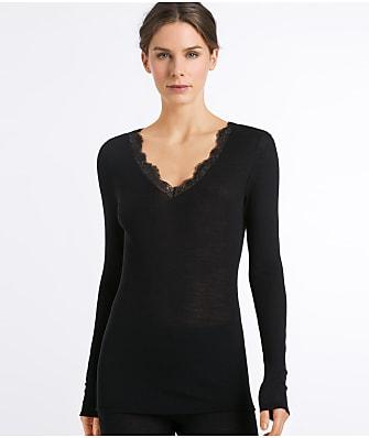Hanro Woolen Lace Knit Shirt