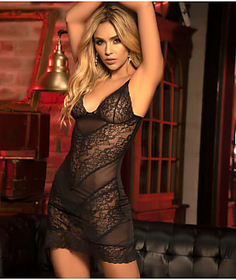 Mapalé Lace and Mesh Babydoll Set