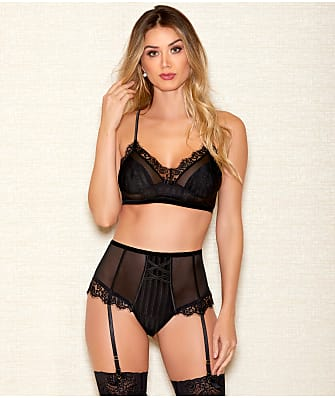iCollection Selena Striped Mesh Set