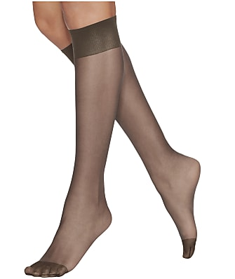 Hanes Silk Reflections Reinforced Toe Knee Highs 2-Pack