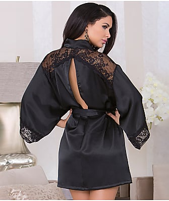 iCollection Satin Keyhole Back Robe