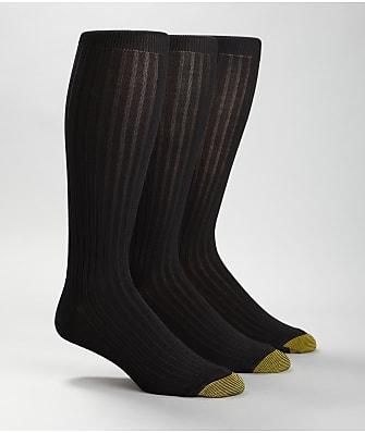 Gold Toe Canterbury Over The Calf Dress Socks 3-Pack