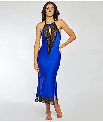 iCollection Tess Satin & Lace Long Gown
