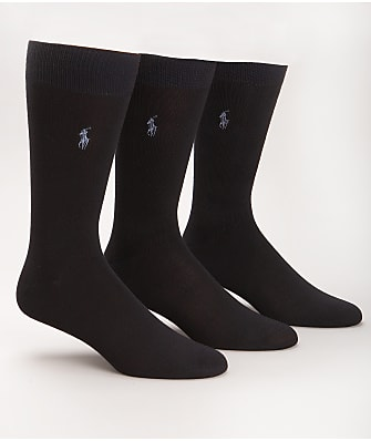 Polo Ralph Lauren Super Soft Crew Dress Socks 3-Pack