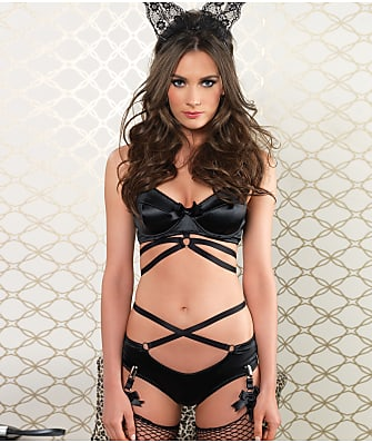 Leg Avenue Satin Bra And Panty Set