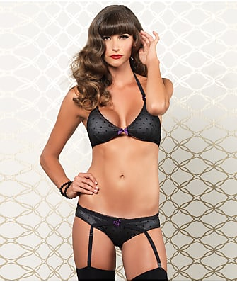 Leg Avenue Halter Bra And Panty Set