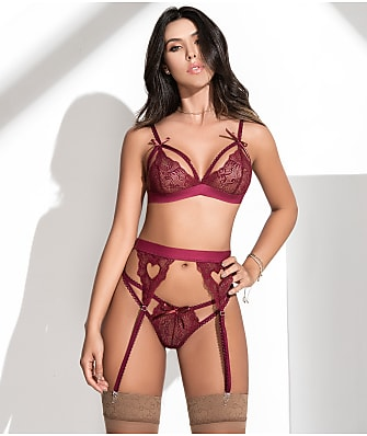 Mapalé Cage Lace Wireless Bra & Garter Set