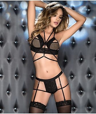 Mapalé Lace Wireless Bra & Garter Set