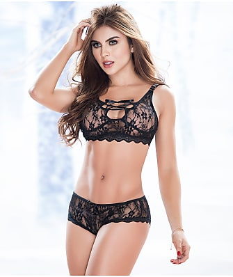 Mapalé Lace-Up Wireless Bra Set