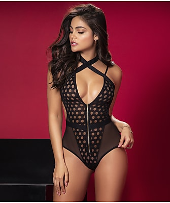 Mapalé Criss-Cross Zipper Teddy