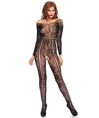 Leg Avenue Seamless Lace Crotchless Bodystocking