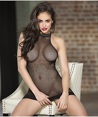 Shirley of Hollywood Halter Fishnet Chemise