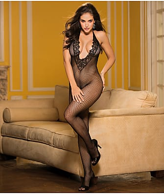Shirley of Hollywood Deep Plunge Crotchless Bodystocking