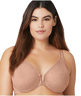 Glamorise Wonderwire Lace Front-Close Bra