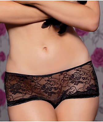 Seven 'til Midnight Lace Crotchless Thong