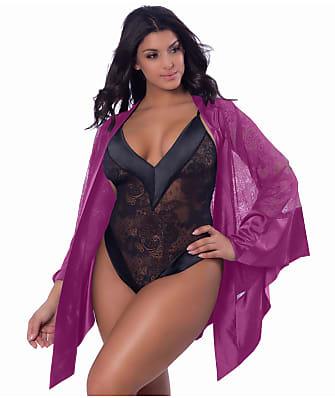 Oh La La Cheri Plus Size Roxanne Handkerchief Robe
