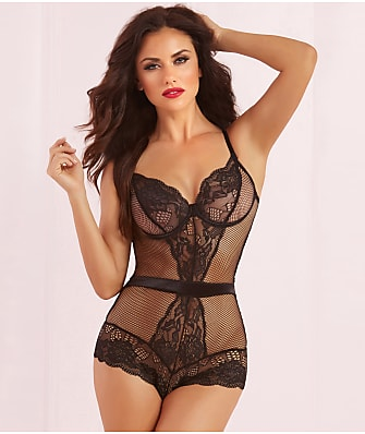 Seven 'til Midnight Net Results Fishnet Teddy