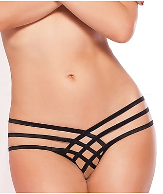 Seven 'til Midnight Criss Cross Crotchless Thong