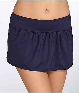 Anne Cole Signature Solid Skirted Bikini Bottom